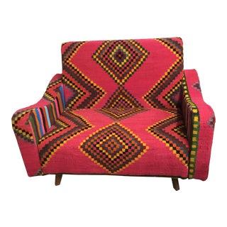 Handmade Marghoum Kilim Woven Sofa From Tunisia