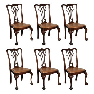 Chippendale Style Side Chairs - Set of 6
