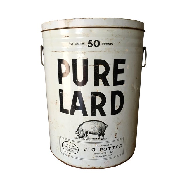 Vintage Lard Container From Oklahoma - Image 1 of 11