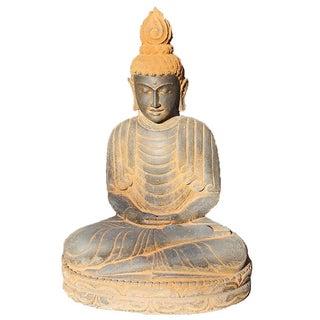 Volcanic Stone Sitting Buddha