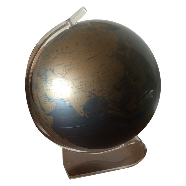 Image of Replogle 1960's Vintage Lucite Globe
