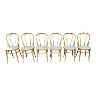 Bentwood Cafe-Style Dining Chairs, Set of 6