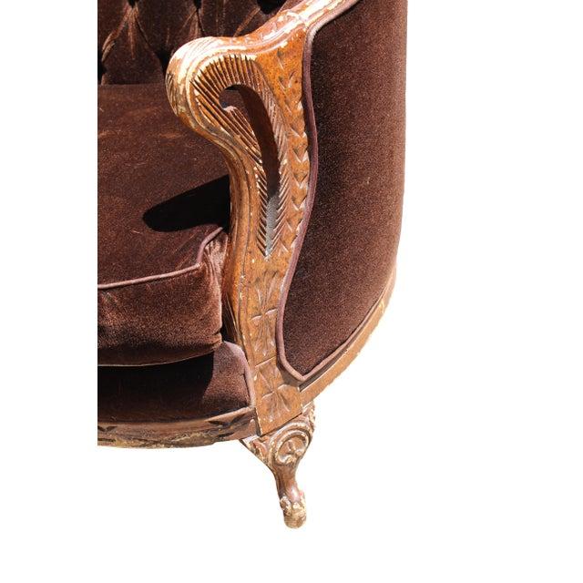 Vintage Mohair Velvet Chair - Image 6 of 10