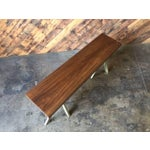 Image of Angle Leg Wood Table Bench