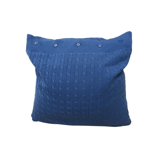 French Blue Throw Pillows : Ralph Lauren French Blue Cable-Knit Throw Pillow Chairish