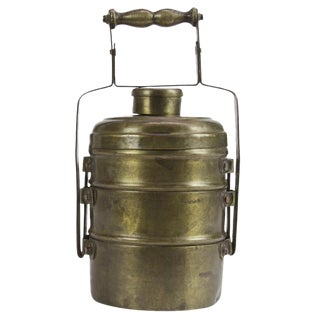 Three Tier Brass Lunch Box