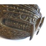 Image of Bronze Leopard Heads From Cameroon - A Pair