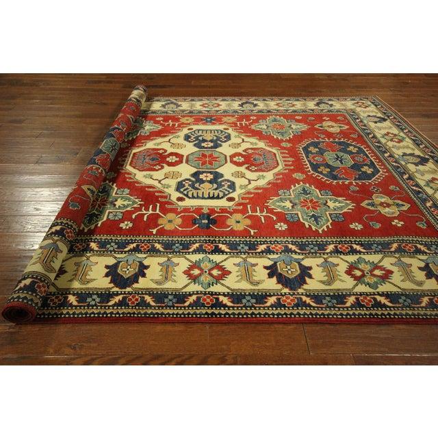 Image of Traditional Super Kazak Rug Red- 8' x 11'