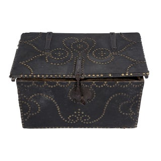 Leather Covered Wooden Chest