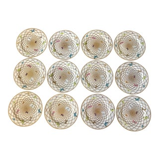 Alberto Pinto Filet a Papillions Buffet Plates- Set of 12