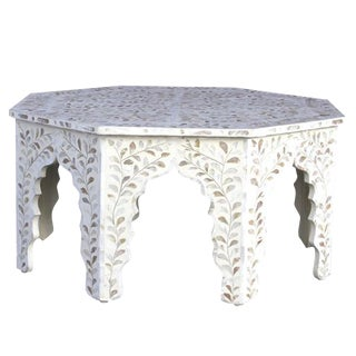 Mother Of Pearl Inlaid Octagonal Coffee Table