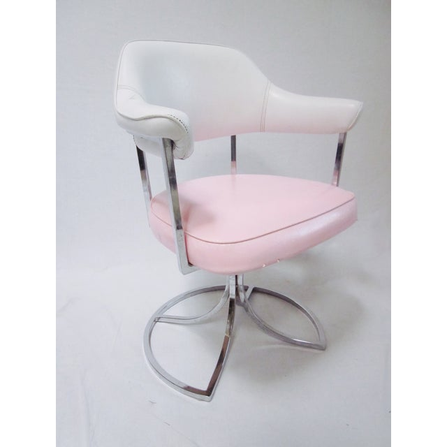 Hollywood Regency Pink White Vanity Chair Chairish