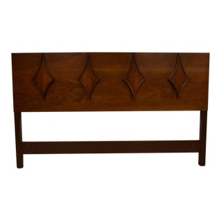 Walnut Queen Diamond Headboard