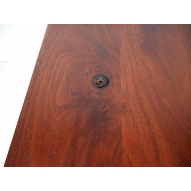 Mid-Century Modern Drop Front Walnut Nightstands - Image 8 of 8