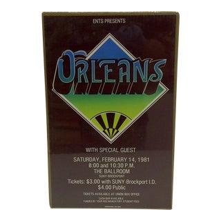 """Vintage """"Orleans"""" Concert Poster"""