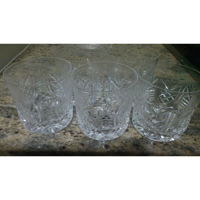 Vintage Etched Rocks Glasses - Set of 4 - Image 6 of 11