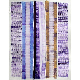 """Filaments"" Purple Stripe Painting from Far and Near Series"
