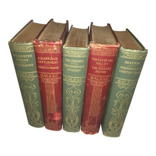 1901 Honore De Balzac Books - Set of 5
