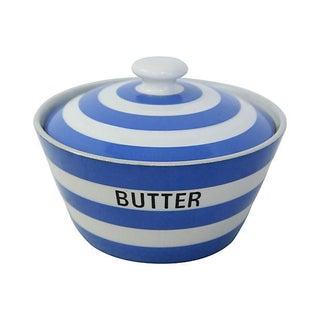 Vintage English Cornishware Butter Tub