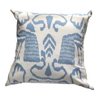 Quadrille China Seas Ikat Blue & White Pillow