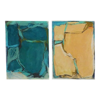 Doreen Noar, Oil on Paper, Diptych