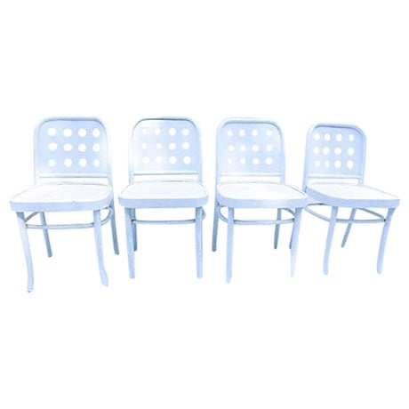 Bentwood & Ply Seat Dining Chairs - Set of 4 - Image 1 of 6