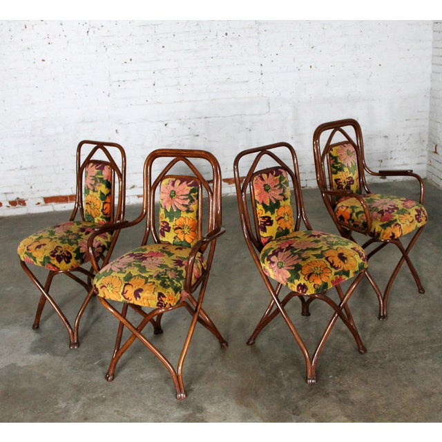 Antique Gebruder Thonet Bentwood Chairs - Set of 4 - Image 7 of 11 - Antique Gebruder Thonet Bentwood Chairs - Set Of 4 Chairish