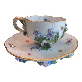 Floral Porcelain Cup and Saucer