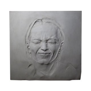 Clay Grimace Sculpture