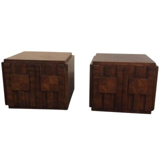 Lane Brutalist Virginia End Tables