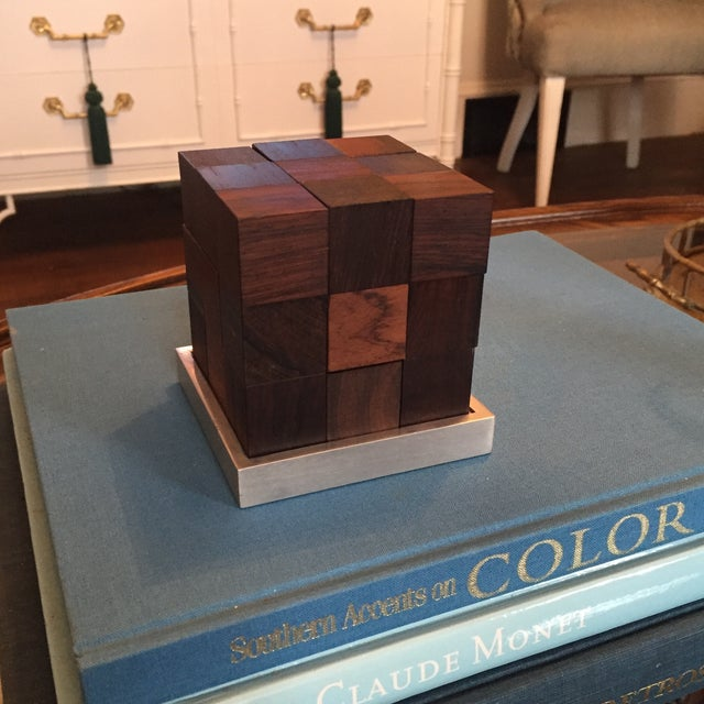 Mid Century Modern Danish Rosewood Teak Parker Brothers Cube Puzzle Game - Image 5 of 11