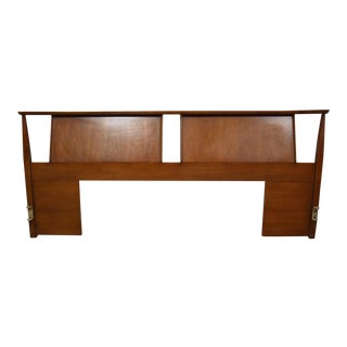 Mid-Century Walnut King Headboard