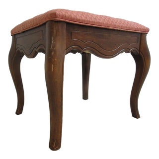 Ethan Allen Country French Carved Footstool