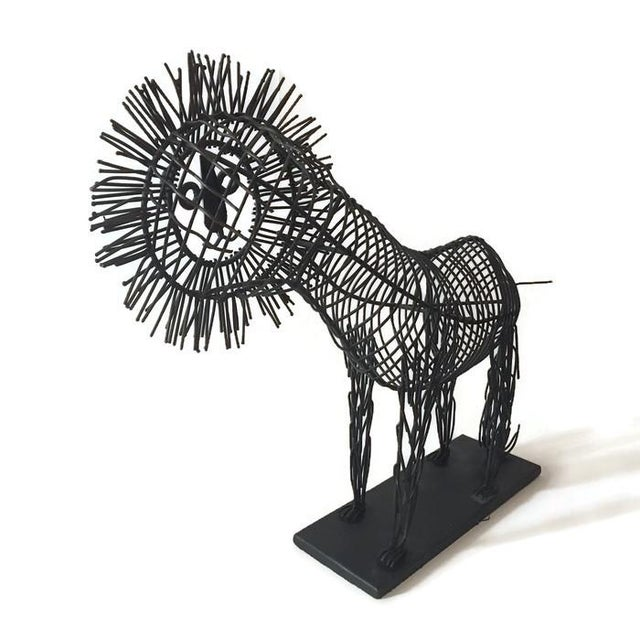 Mid Century Iconic Lion Sculpture, C. Jere Style - Image 2 of 6