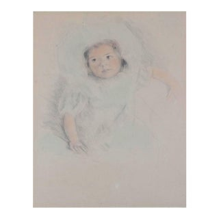 Cassatt Drypoint 'Margot Wearing a Bonnet'