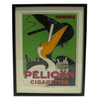 Art Deco Pelican Cigarettes Poster