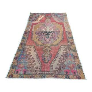 Turkish Anatolian Vintage Rug - 4′ × 7′8″