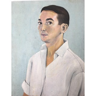 Man in White Shirt Portrait Painting