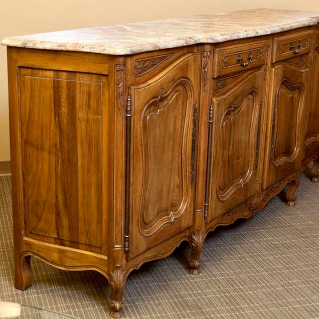 19th Century French Faux Painted Top Enfilade or Buffet - Image 3 of 7