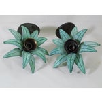 Image of Metal Wall Sconces - Pair