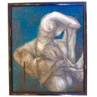 Mid-Century Nude Oil Painting