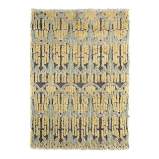 "High Low Moroccan Arya Lenny Gray/Blue Wool Rug - 5'4"" X 6'8"""
