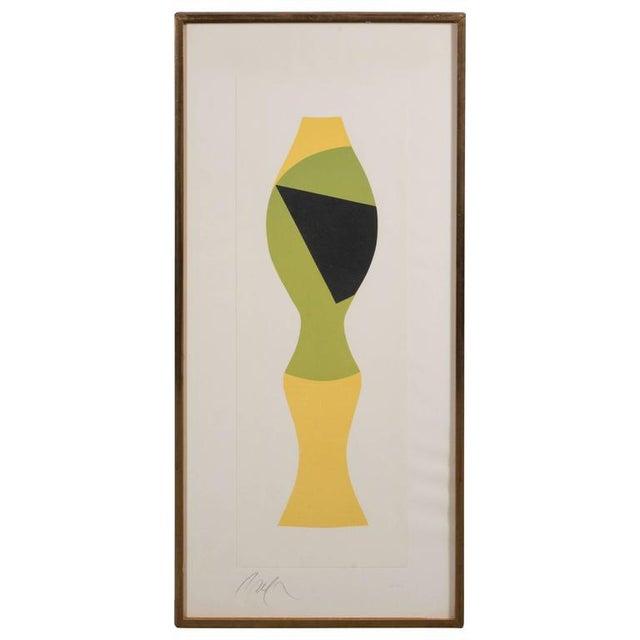 Mid-Century Modernist Woodcut by Hans Arp Poupee Sans Tete, 1964 - Image 8 of 8