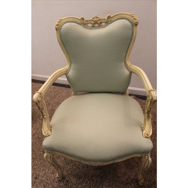 French Louis XV Ladies Open Arm Chairs - A Pair - Image 7 of 11