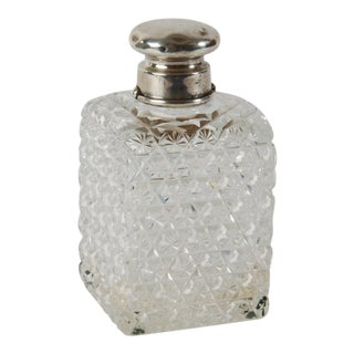 1886 Cut Glass & Sterling Silver Perfume Bottle