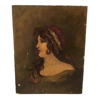 19th Century Oil Painting Portrait Aaron Shattuck