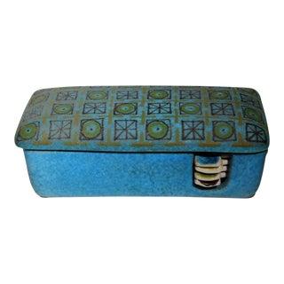 Mid-Century Alvino Bagni for Bitossi Cigarette Box with Ashtrays