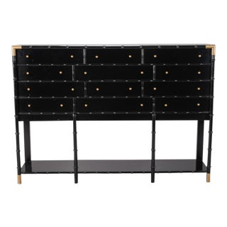 English Faux Bamboo Chest of Drawers on Stand