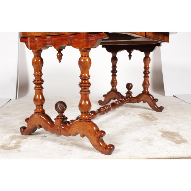 19th-C. Dutch William III Library Desk - Image 5 of 11