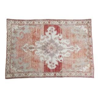"""Distressed Sun-Kissed Oushak Carpet - 5' x 7'5"""""""